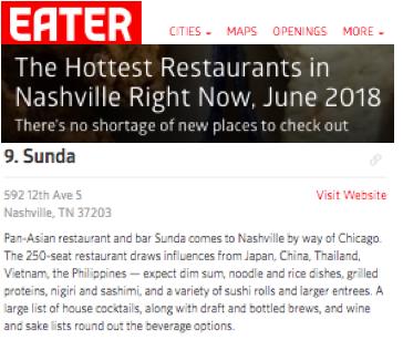 The Hottest Restaurants In Nashville Eater Sunda New Asian